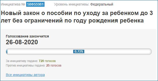 Петиция: Путинские пособия до 3 лет платить всем детям!