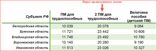 Размер путинского пособия